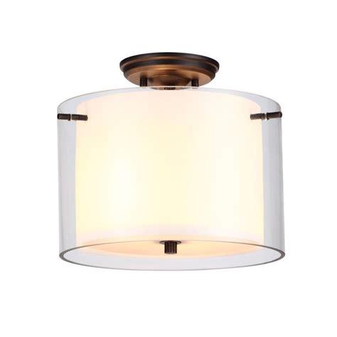 Dvi Lighting Fixtures Dvi Lighting Dvp9013orb Bs Rubbed Bronze With Butterscotch Glass Essex 2 Light Semi Flush