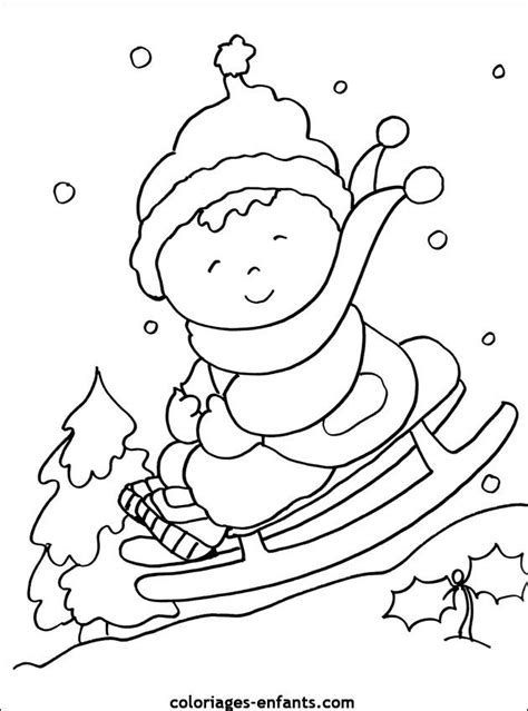 snow coloring pages preschool preschool winter colouring page winter kleurplaat slee