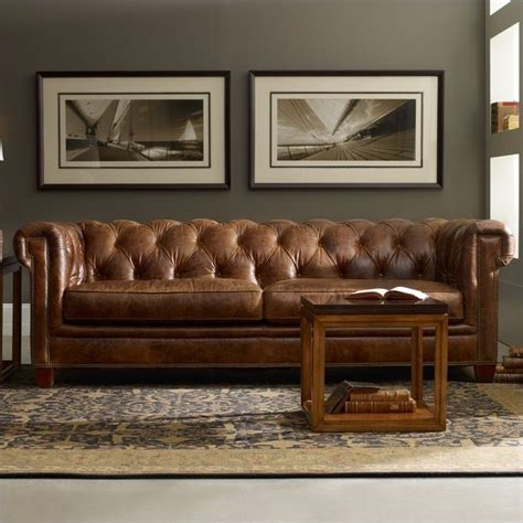 seven seas sofa hooker furniture seven seas stationary leather sofa in