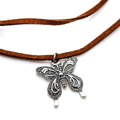 Pendant Choker charm vintage pendant butterfly choker