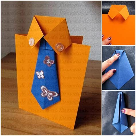 make a s day card template diy tie and shirt greeting card