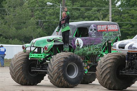 who drives grave digger truck trucks grave digger and driver flickr photo