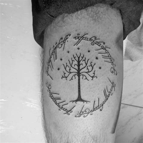 arvore de gondor e inscricao do anel by detonatorkill on