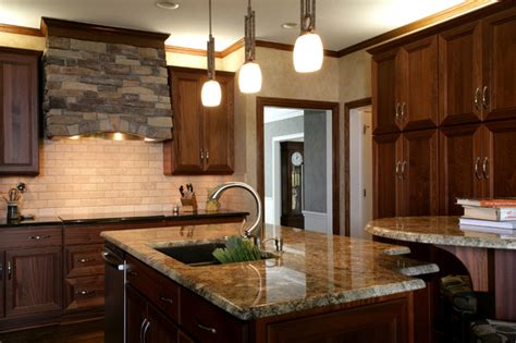 transitional mahogany traditional kitchen kansas