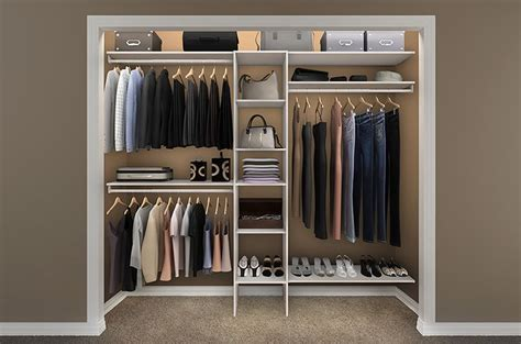 Closetmaid Designs reach in closet storage design ideas ideal rooms