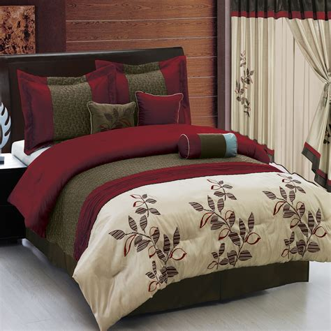 maroon comforter sets pasadena burgundy 7 piece luxury comforter set ebay