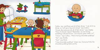 caillou dinner kidbooks caillou waits for dinner