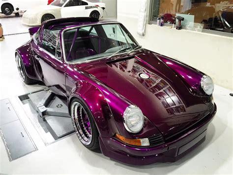 rauh welt porsche purple 1975 porsche 911 targa gets rauh welt begriff extreme