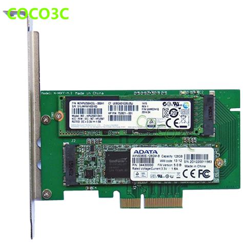 aliexpress buy pci e x4 to m key ngff ssd card for