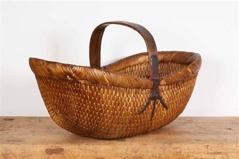Handmade Flower Baskets - antique handmade willow flower basket for sale at 1stdibs