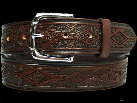 mens leather western leather belt made in usa 32 34 36 38