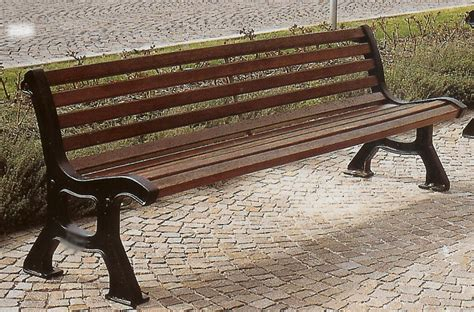 panchina roma panchina roma ghisa legno esotico giardini parchi piazze