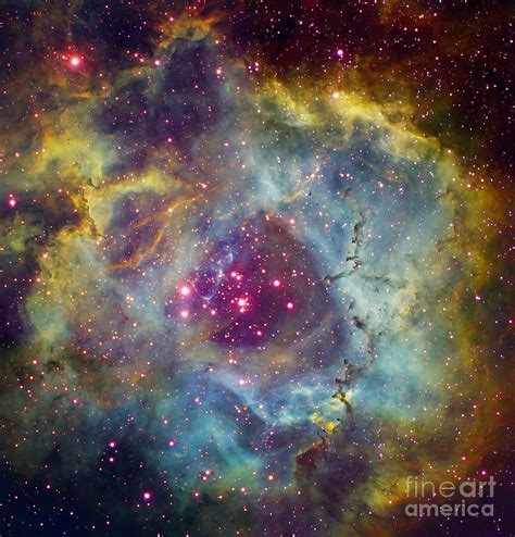 Rosette Duvet Cover Rosette Nebula Ngc 2244 In Monoceros Photograph By Filipe