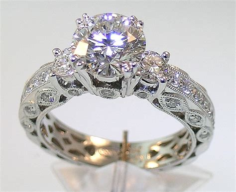 vintage wedding rings for with white gold