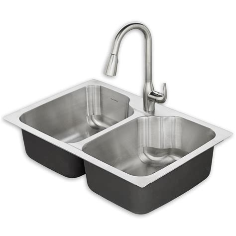 Kitchen Sink Stainless Steel 50c tulsa 33x22 kitchen sink kit american standard