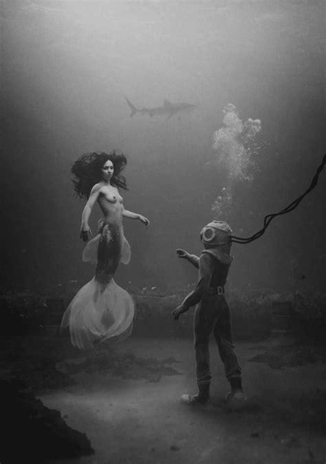 black white mermaid black and white mermaid sea image 519927 on favim