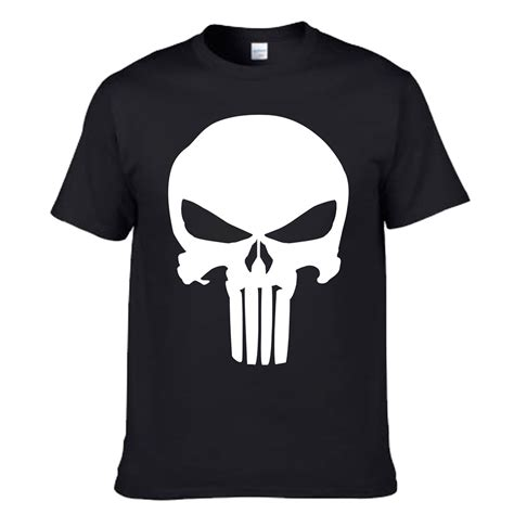 Pria Kaos Pria Marvel The Punisher Orange Black home kyodain79