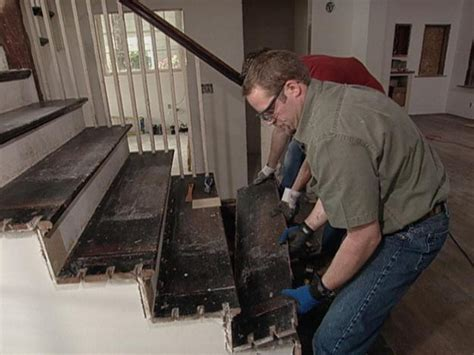 how to remove stair banister how to replace staircase treads how tos diy
