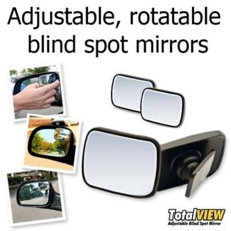 Total View Car Blind Spot Mirror Kaca Cermin Spion Mobi Murah total view adjustable blind spot mirror