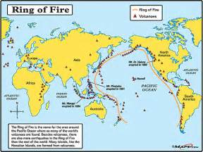 the world s volcanoes map by maps from maps
