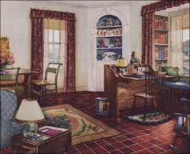 1920s home interiors 1931 traditional style living room armstrong linoleum