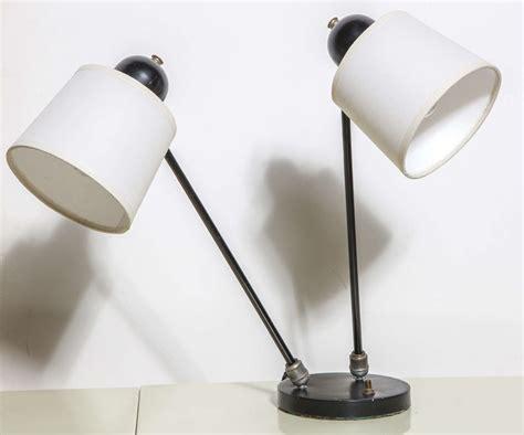 Desk Lamp Head 1940 S David Wurster Articulating Two Head Black Desk Lamp