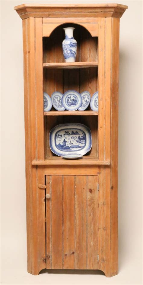 English Pine Narrow Corner Cabinet Rafael Osona Narrow Corner Cabinet