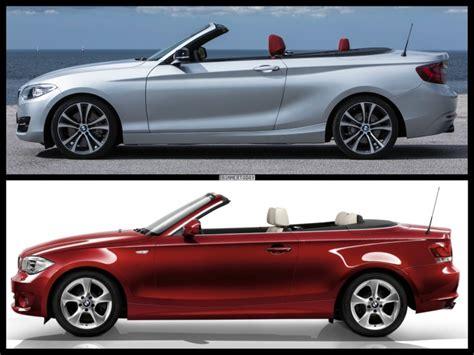 Bmw 2er Maße Kofferraum by Bild Vergleich Bmw 2er Cabrio F23 Trifft Bmw 1er Cabrio E88