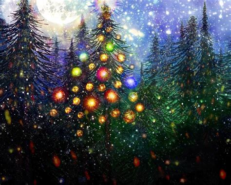 moon glitter christmas tree for michelle by rabbitica