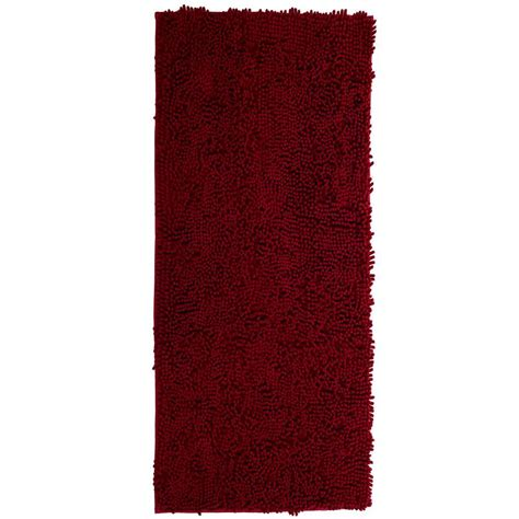rug 2 x 5 lavish home burgundy 2 ft 6 in x 5 ft accent rug 67 13 bu the home depot