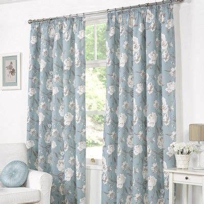 floral duck egg curtains buy tessa rose duck egg lined curtains matching cushion