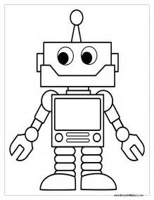 robot template robot coloring pages print color craft