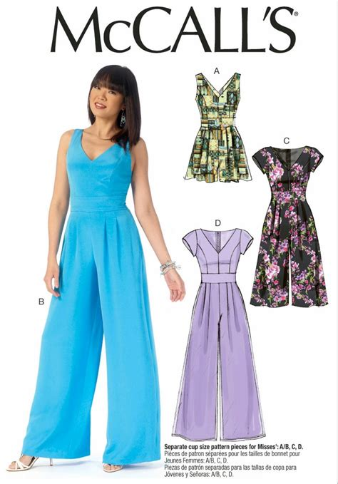 jumpsuit pattern mccalls ladies wide leg jumpsuit pattern ladies wide leg romper