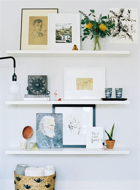 floating bookshelves diy how to style floating shelves kelp thoughtful living