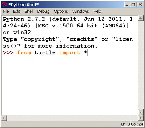 Turtle Import tk tinker turtle from python interpreter