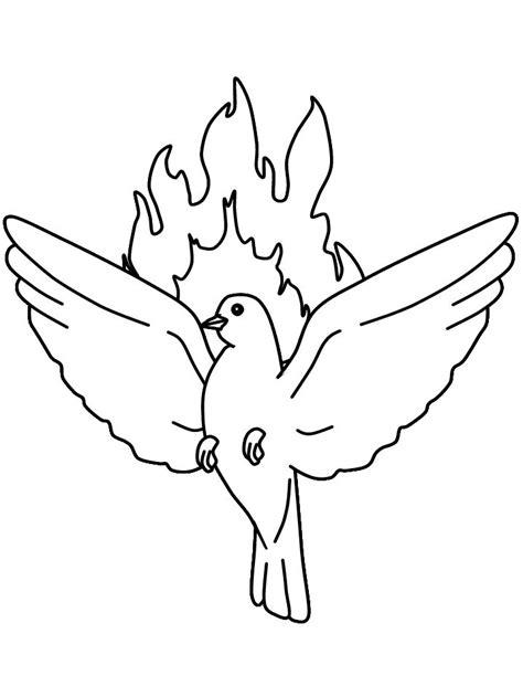 dibujos para colorear de la paloma del espiritu santo laminas de la biblia para colorear imprimir y recortar