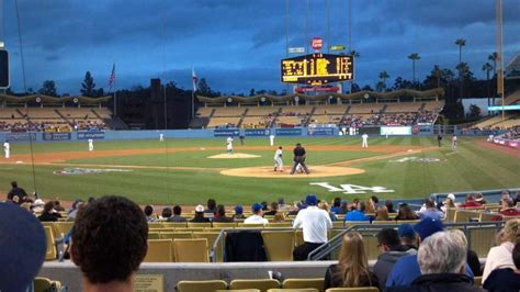 dodger stadium section field box mvp  row  seat  los angeles dodgers  pittsburgh