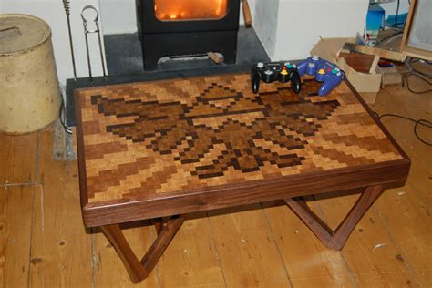 legend of table diy legend of hylian crest pixel coffee table