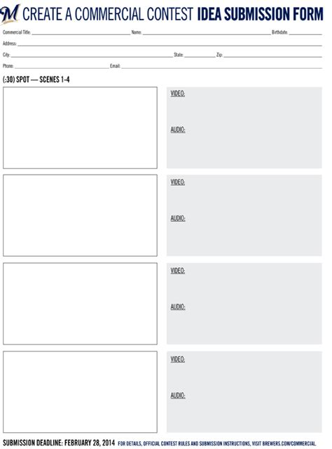 blank storyboards to print new calendar template site