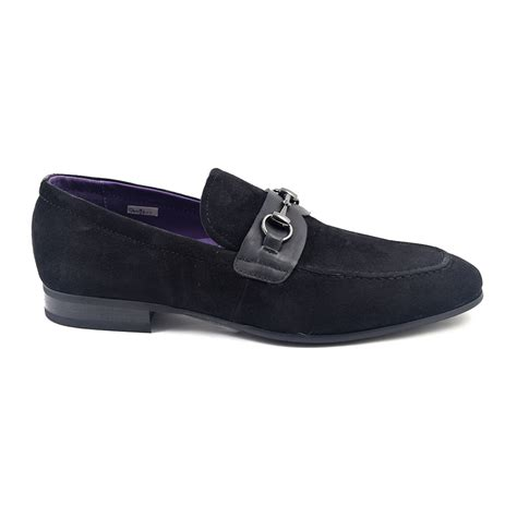 suede buckle loafers buy mens black suede buckle loafer gucinari