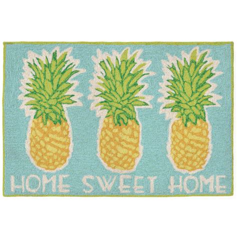 Pineapple Outdoor Rug Home Sweet Home Pineapple Indoor Outdoor Rug