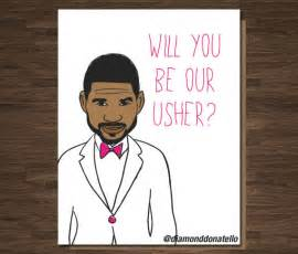 funny wedding usher best man card will you be our usher
