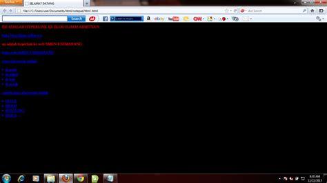membuat hyperlink html belajar html membuat hyperlink 1 dengan notepad komputer