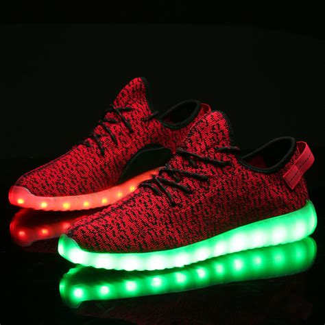 Sepatu Adidas Yezy Human Led led shoes yeezy style running shoes