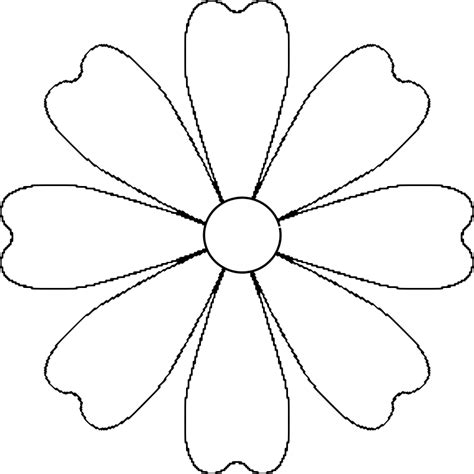 flower pattern template flower templates printable cliparts co