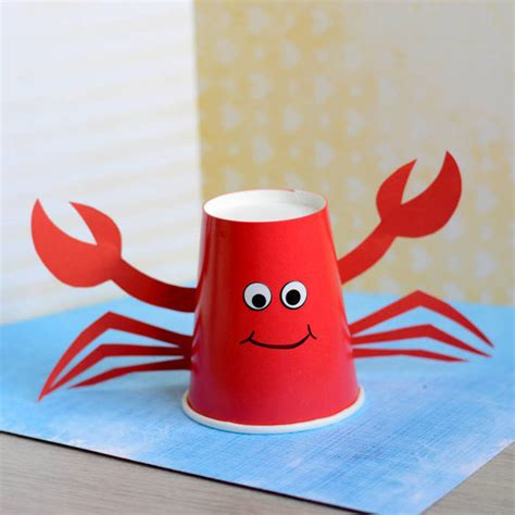 paper cup craft paper cup crab craft for blitsy