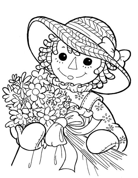 raggedy anne and andy az coloring pages