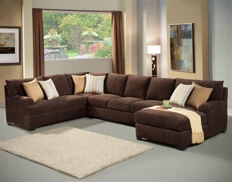 Chocolate Brown Sectional Sofas Chocolate Brown Sectional Sofa With Chaise Hotelsbacau