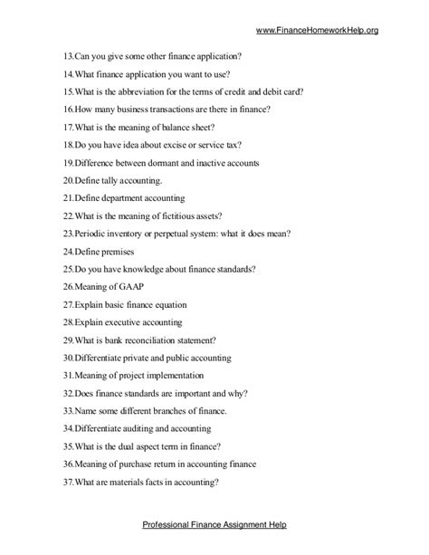 biography questions list list of 100 tricky finance questions for students