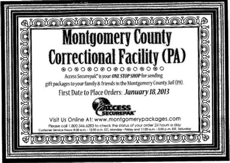 Montcopa Property Records Montgomery County Pa Official Website Inmate Commissary